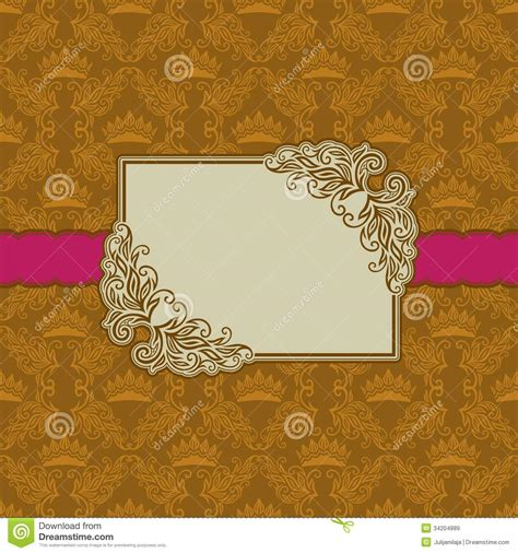 design frame card template frame design for greeting card royalty free