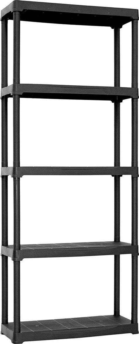 scaffale in plastica plast t70 5 scaffale in plastica cinque ripiani nero