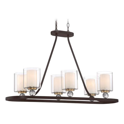 Minka Lavery Island Lighting Minka Lavery Studio Painted Bronze W Brushed Brass Island Light With Cylindrical Shade