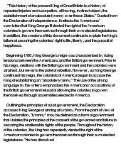 Declaration Of Independence Essay by The Declaration Of Independence At Essaypedia