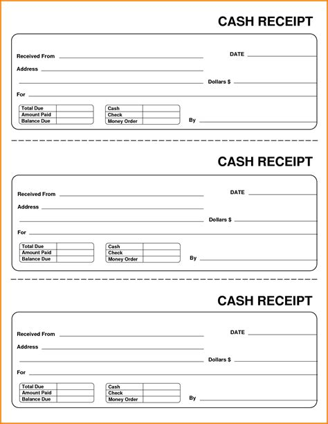 up check receipt template 6 payment receipt template expense report