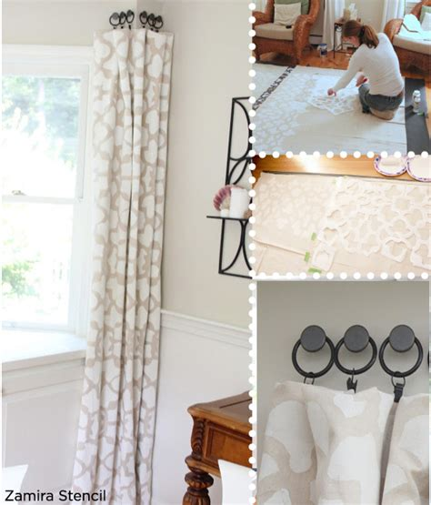 creative curtain ideas creative curtain ideas using moroccan stencils stencil