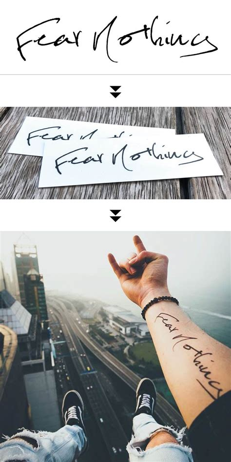 fear nothing tattoo design custom skin quote temporary sticker