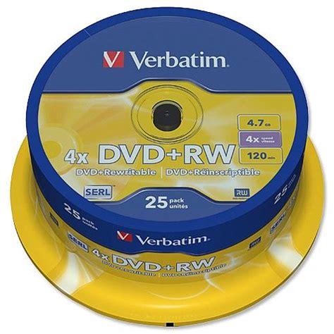 Dvd Rw Verbatim Casing 4x 4 7gb verbatim dvd rw rewritable disk cased 1x 4x speed 120min 4