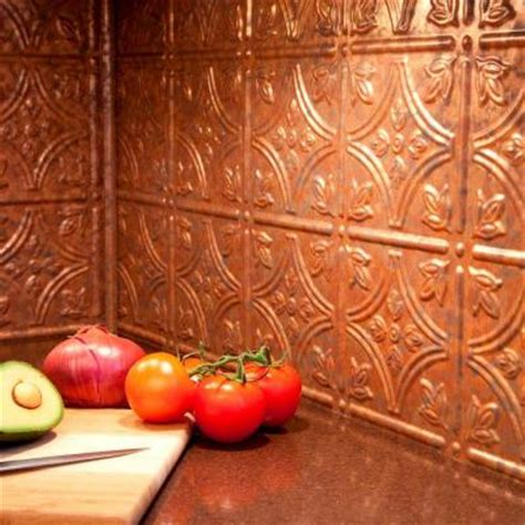 faux metal backsplash panels fasade 24 in x 18 in traditional 1 pvc decorative