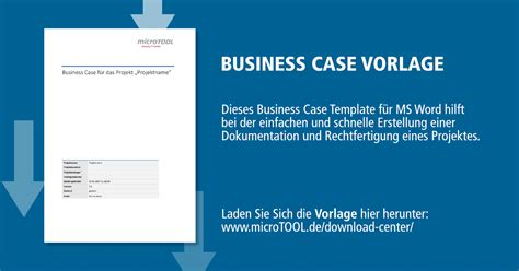 business case vorlage fuer ms word microtool