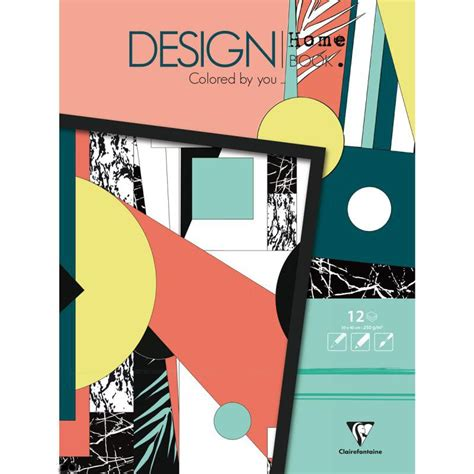 Design Home Book Clairefontaine | carnet de coloriage design home book 30x40 cm