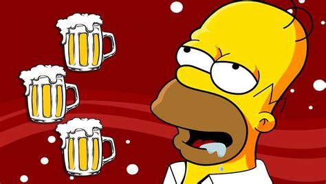 Homer Simpson Beer   wallpaper.