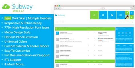 php forum templates free nulled subway flat metro phpbb 3 1 theme nulledtorrent
