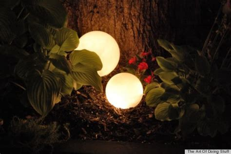 diy backyard lighting 7 diy outdoor lighting ideas to illuminate your summer nights photos huffpost