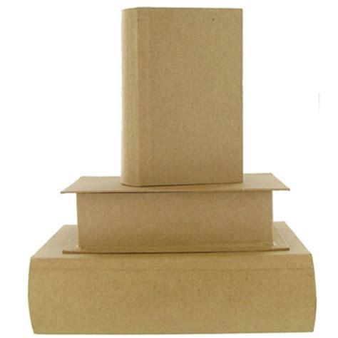 Paper Mache Boxes How To Make - paper mache book box set hobby lobby 379727