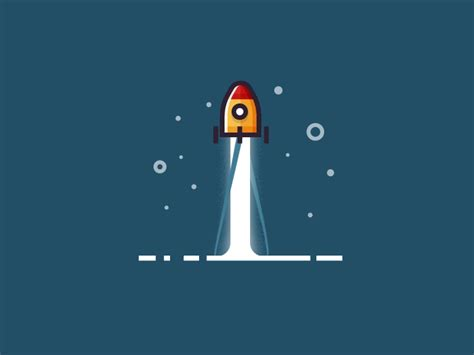 Rocket Launch Motion Design By Infographic Paradise Dribbble Spacex Powerpoint Template