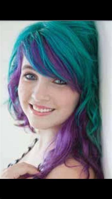 Manic Panic Lified Voodoo Blue Original manic panic blue and purple hair coloured hair