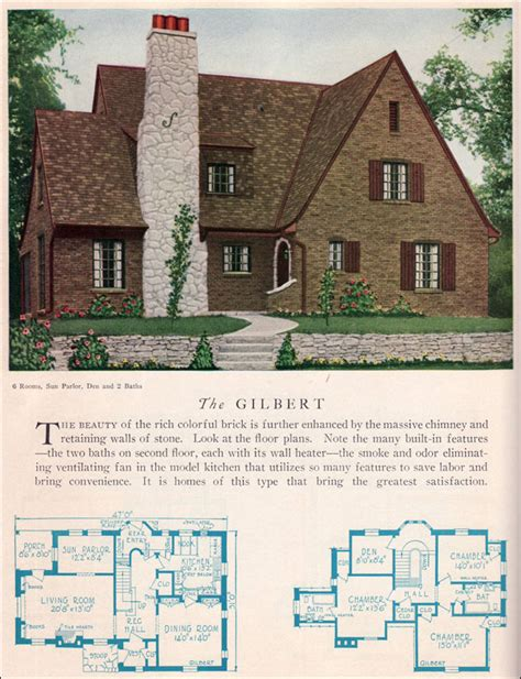 tudor house plans 1920 s 1929 home builders catalog gilbert house plan american