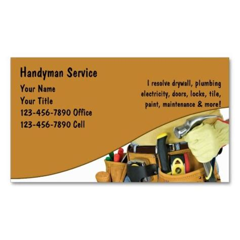 handyman services business card template 258 best images about plumbing business cards on