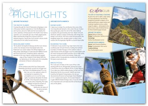 Ideas and examples for creating and designing tourist