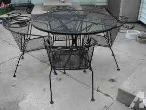 Used Wrought Iron Patio Furniture Sets Iron Patio Furniture Set Roselawnlutheran