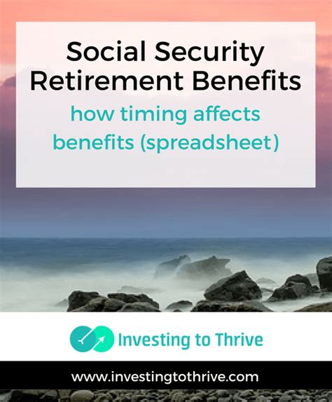 when to take social security retirement benefits spreadsheet