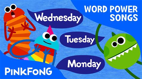 week song seven days days of the week song word power pinkfong