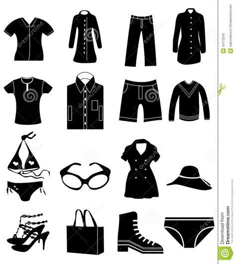 a for all time clothes clothing icons set stock vector image of icon