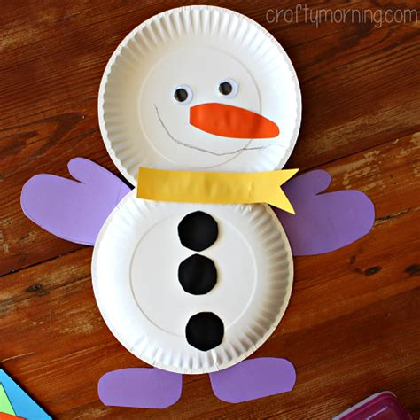 snowman paper plate craft paper plate snowman craft for crafty morning