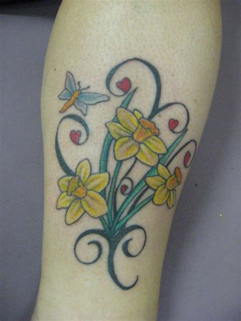 daffodil tattoo daffodil tattoos designs ideas and meaning tattoos for you