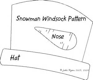 crafts snowman windsock pattern template crafting with