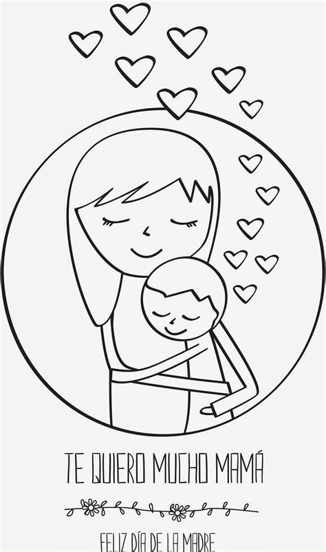 imagenes infantiles por el dia de la madre dia de la madre tarjetas para colorear