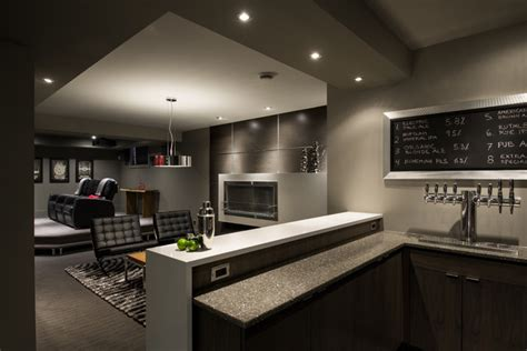 Kitchen Bar Cabinet Ideas basement brewery bar home theater contemporary