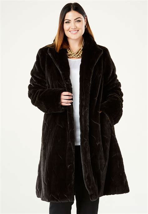 swing coat faux fur swing coat plus size winter coats