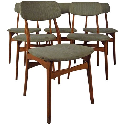 teak upholstered dining room chairs set of six mid century upholstered teak dining chairs for