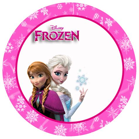 Frozen In Pink by Frozen In Pink Free Printable Toppers Stickers Bottle