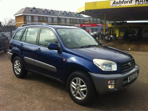 used toyota rav4 car 2003 blue petrol 2 0 gx 5 door auto