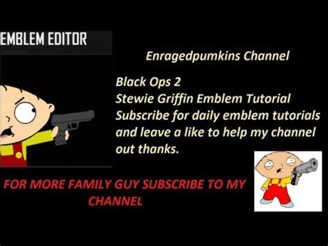 tutorial hack black ops 2 online black ops 2 stewie griffin emblem tutorial youtube