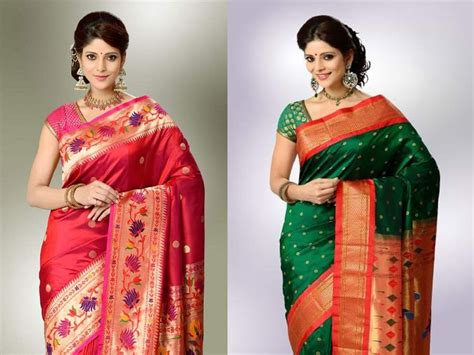 beautiful paithani sarees collection  pictures