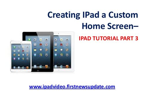 home design ipad tutorial creating ipad a custom home screen ipad tutorial part 3