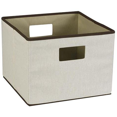 canvas storage bins vision canvas storage bin in shelf bins