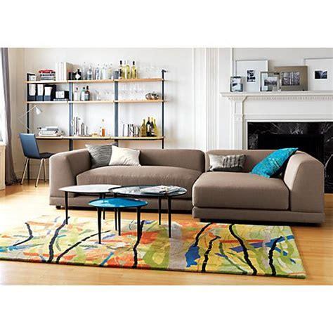 cb2 uno sofa uno caper left arm sofa in sectionals cb2 furniture