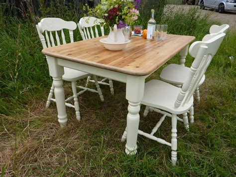 Farmhouse Table And Chairs by Antique Pine Farmhouse Table And 4 Chairs Painted Vintage