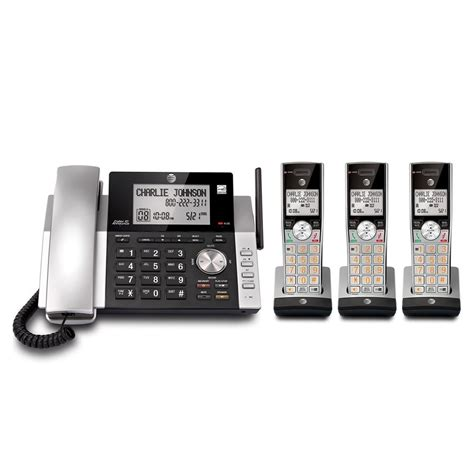 at t dect 6 0 corded cordless 3 handset home phone