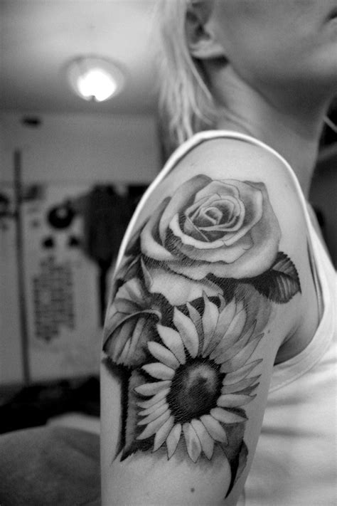 rose and sunflower tattoo ink spl photography s