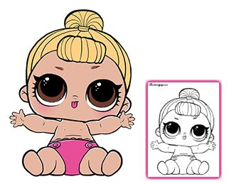 Lol L O L Doll Lil Dj color your favorite lol doll baby clipart