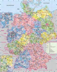 detailed map of geography detailed map of germany