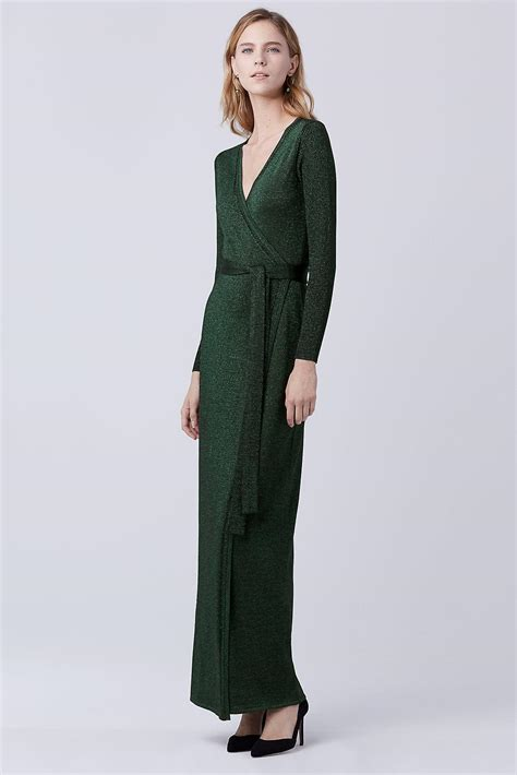 knit wrap dress diane furstenberg dvf maxi knit wrap dress lyst