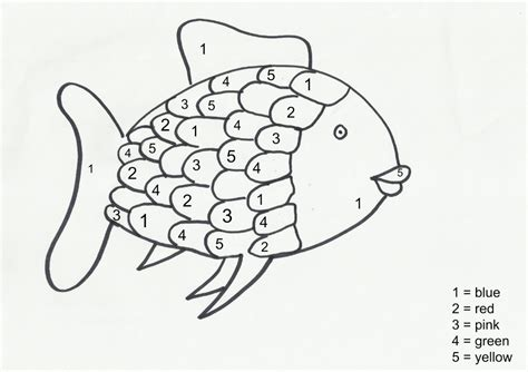 the rainbow fish pattern clipart best