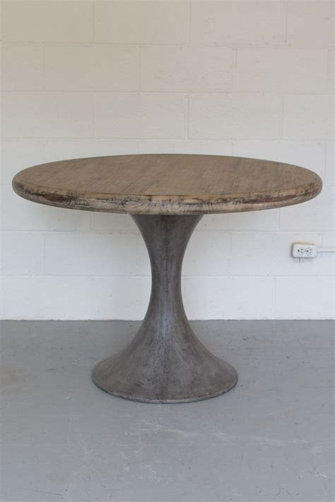round concrete dining kalalou round acacia wood dining table with concrete