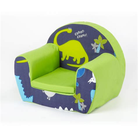 boys armchair dinosaurs blue childrens kids comfy foam chair toddlers