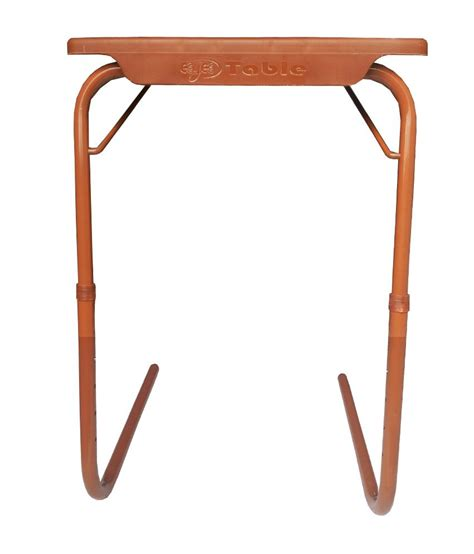 buy table mate india adjustable folding table mate brown buy at best