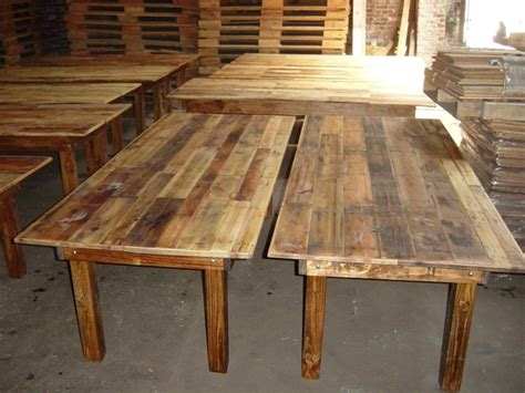 knotjustfurniture rustic wooden harvest tables