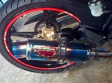 Kenalpot Racing Yamaha Jupiter Mx 135 Akrapovic Pelangi High Peforma yamahat135 r9 racing exhaust monza blue jupiter mx doovi